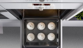Vista cenital bandeja hornos Serie Cristal de Balay